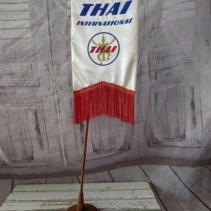vintage Thai international airlines flag travel ag